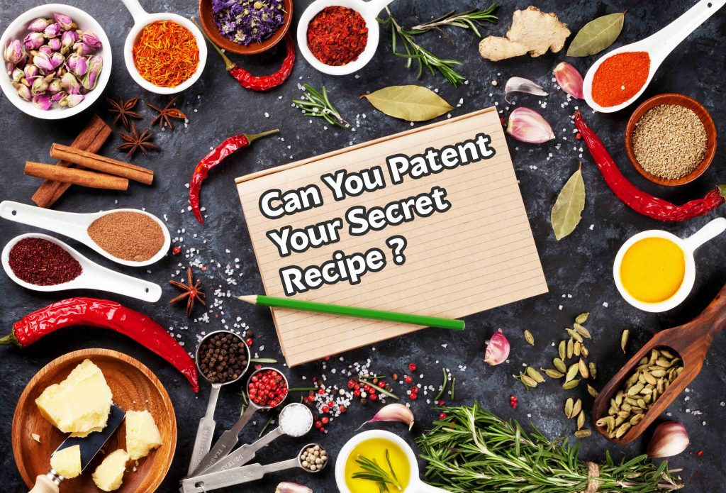 can you patent a food recipe?