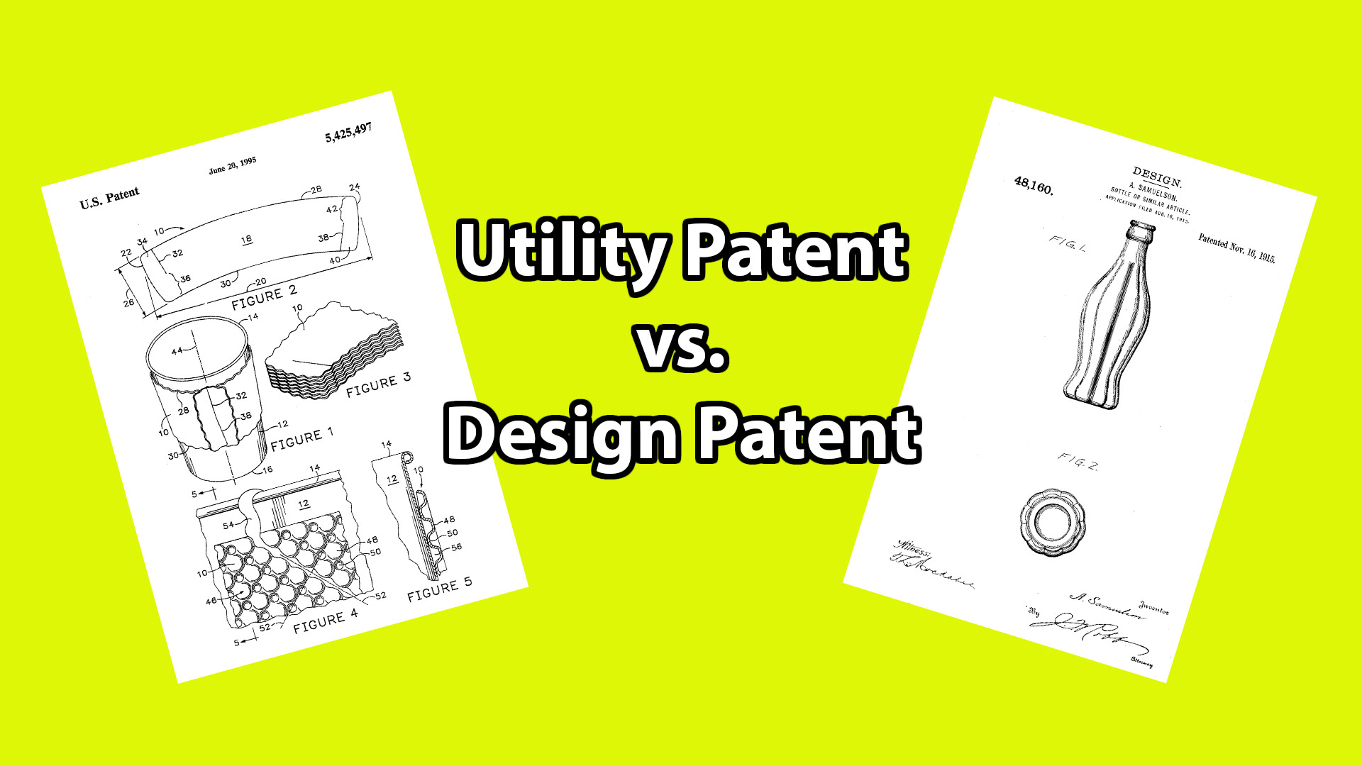 how to tell if a patent is utility or design