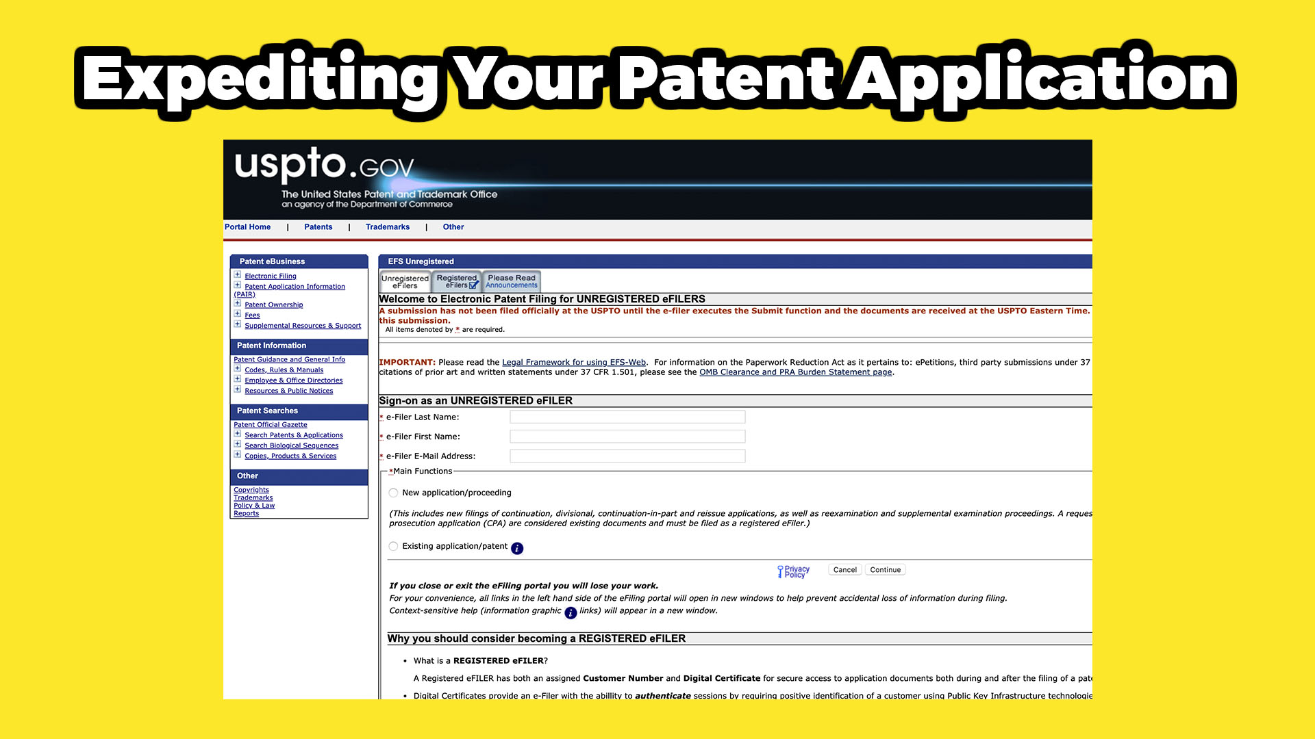 How to expedite a patent application?